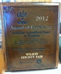 IAFE Award for the 2012 Spring Festival & Garden Tour