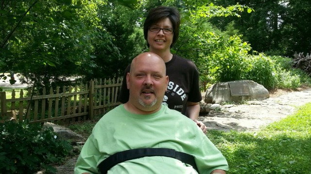 Greg Tomerlin and Angela Maxwell at the Butterfly Garden
