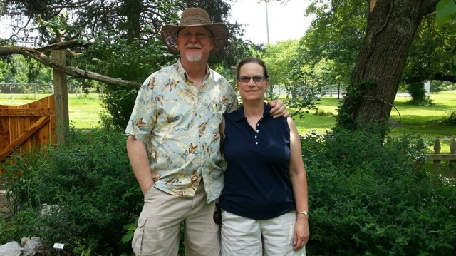 Robert Powers and Kathy Jantz visit the Butterfly Garden - 27 May 2013