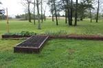 Spring 2014 Raised Beds - cilantro, garlic, kale, lettuce, radish, spinach - 25 April 2014