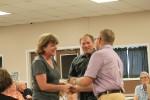 Janie Kelley receives her badge