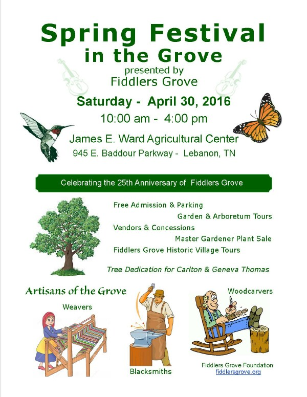 Fiddlers Grove Spring Festival - 30 April 2016